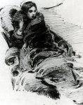 Mikhail Vrubel. Lady In Furs. 1880
